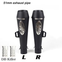 Moto-Modified Exhaust Muffler Pipe for 51mm Motorcycle Right And Left Side Silencer System DB Killer