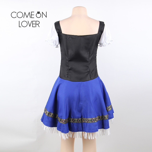 Comeonlover German Beer Girl Costume Dress Plus Size 7XL Maid Lingerie Costume Sexy Femme Cosplay Halloween Fancy Dress CI80705 5
