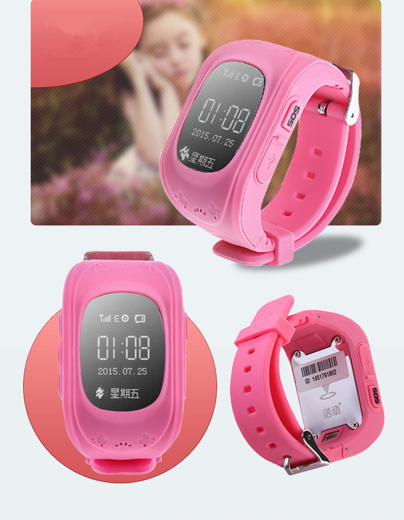 Pink and Blue color Kids Tracker font b Watches b font English Talkback Monitoring GPS Positioning