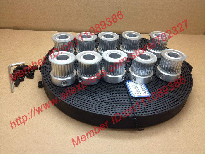 10Meters HTD 3M open ended timing belt width 15mm + 10pcs 24 teeth Bore 12mm 3M Timing Pulley for laser engraving CNC machines 10meters htd 3m open ended timing belt width 15mm 10pcs 24 teeth bore 12mm 3m timing pulley for laser engraving cnc machines