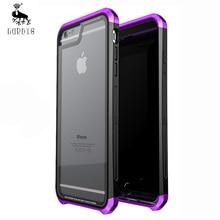Для iPhone 6 6S Plus чехол, оригинальный LUPHIE металл + PC + 9 H прозрачные закаленное стекло назад, Трехместный крышка для iPhone 7 7 Plus