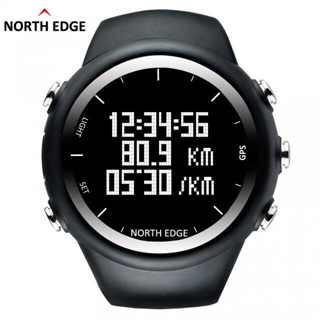 NorthEdge Новый GPS часы цифровые Часы Мужчины цифровой наручные часы smart Темпы Скорость Калорий Бег Бег Триатлон Кроссовки водонепроницаемый