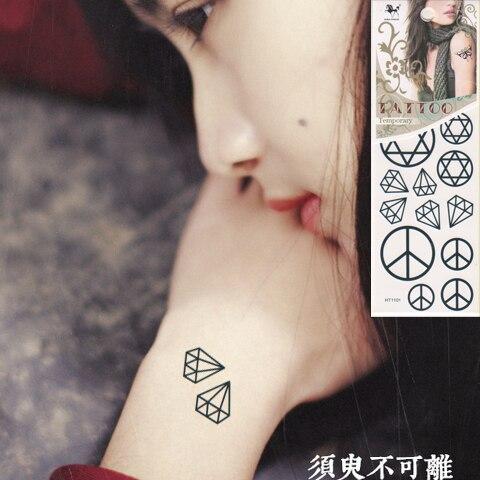 Temporare Tattoo Aufkleber Unisex Kleine Hand Arm Anti Kriegs