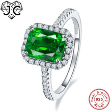 цена на J.C Fine Jewelry 2.45ct Ruby & Emerald  White Topaz For Women/Men Delicate Solid 925 Sterling Silver Ring Size 6 7 8 9