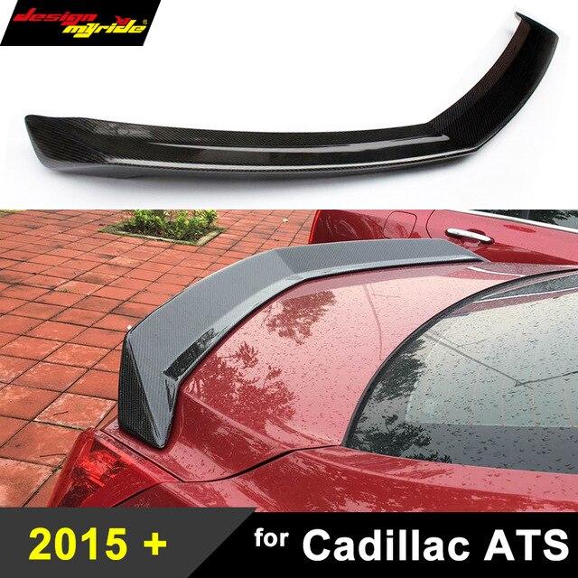 Pour Cadillac ATS fibre de carbone becquet de pont arrière aile arrière Style V pour Cadillac ATS 2 portes 4 portes 2015-2018