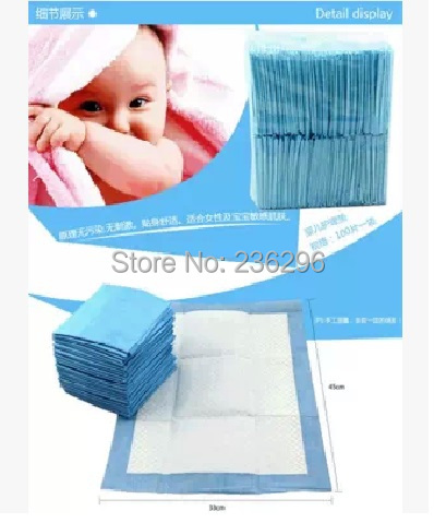 Baby disposable sanitary pad 6060cm 40pcsbag ultra absorbent