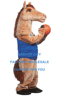 Mustang Horse Athlete Mascot Costume Adult Size Sport Games Celebration Carnival Party Theme Mascotte SW927
