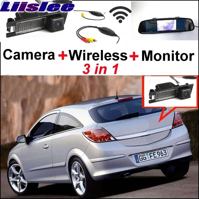 Liislee Special WiFi Camera + Wireless Receiver + Mirror Monitor Parking System For Opel Astra Corsa Meriva Tigra Vectra Zafira car rear camera 4 3 lcd screen 2 in 1 back up parking system for opel astra corsa meriva tigra vectra zafira