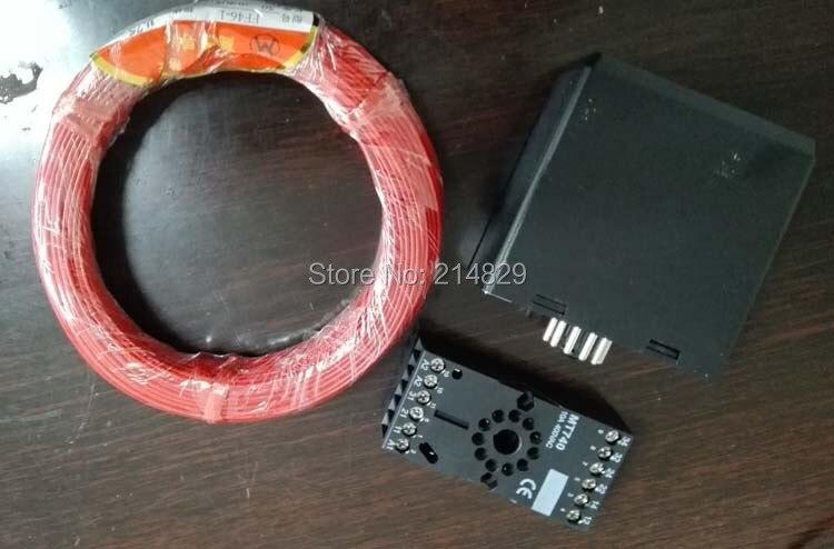 Detector de bucle para vehículos de 12V 24V 2 canales para abridor de puertas de garaje con Cable de 50M