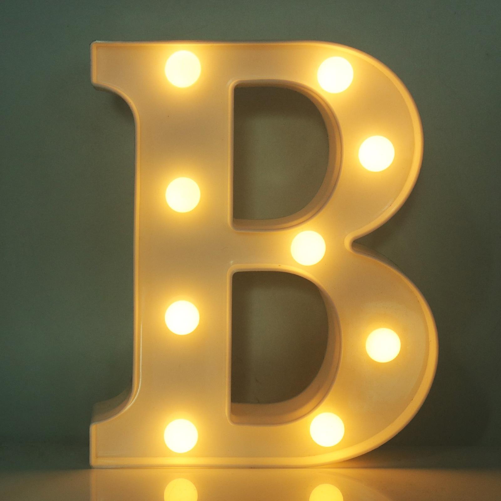 A Z Battery Letter LED Light White Light Up Decoration Symbol Indoor ...