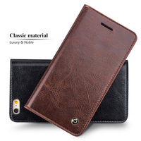 QIALINO Card Slot Leather Case For IPhone 6 Plus Genuine Leather Back Cover Housing For IPhone