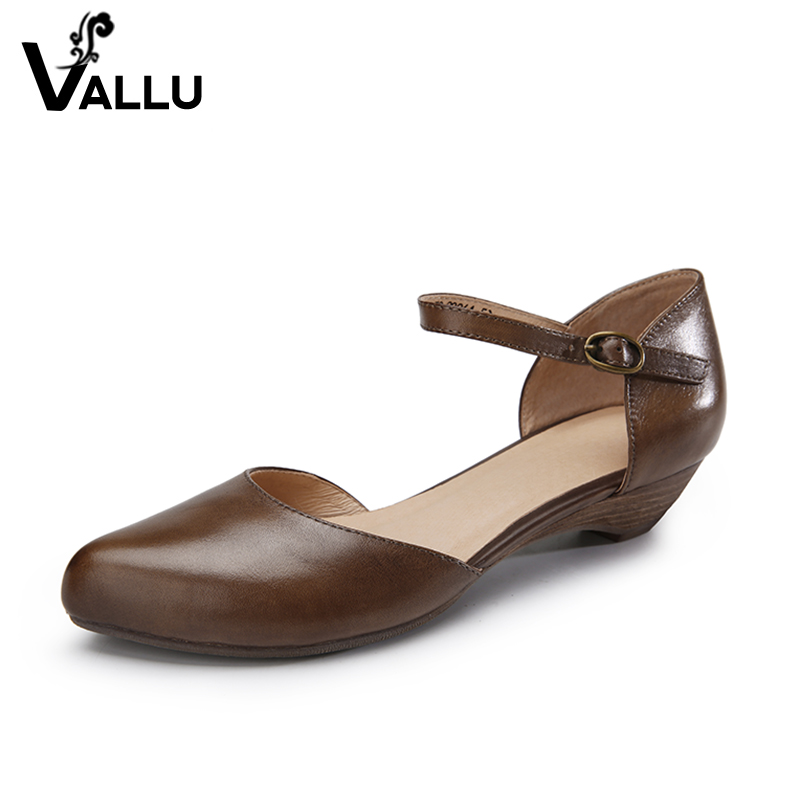 High Heels Sandal Shoes Women 2018 Summer Mary Janes Women Pumps Genuine Leather Pointed Toes Buckle Vintage Women Sandals Shoes 2015 summer new rome sweety shining buckle belt women sandal high heels weomen sandal breathable comfort women sandals e937