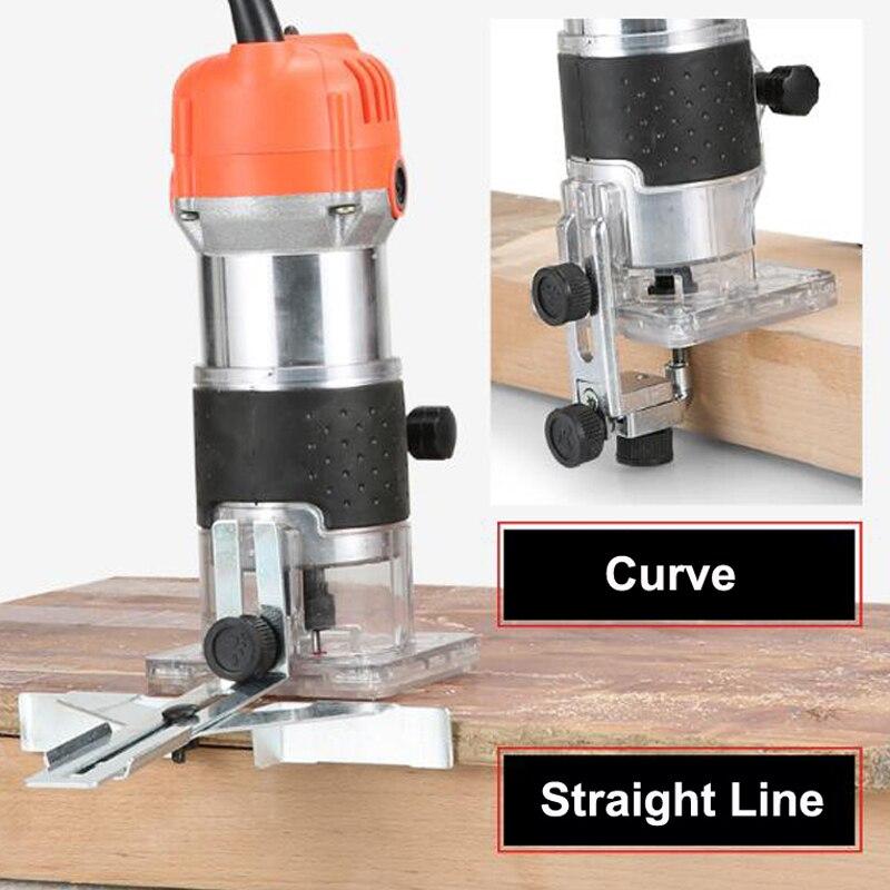 Machine à découper tondeuse électrique prise de bois 30000 tr/min bois routeur coupe en cuir travail du bois bricolage perceuse outils électriques - 5