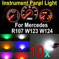10X Wedge Base Led Illumination Instrument Panel Light Bulbs For Mercedes R107 W123 W124 W201 White Blue Red Green Pink Yellow
