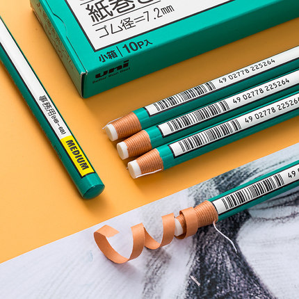Roll Eraser Students Use A Special Pen Shape To Tear Paper Eraser For Art Drawing And Sketch Examination 3pcs