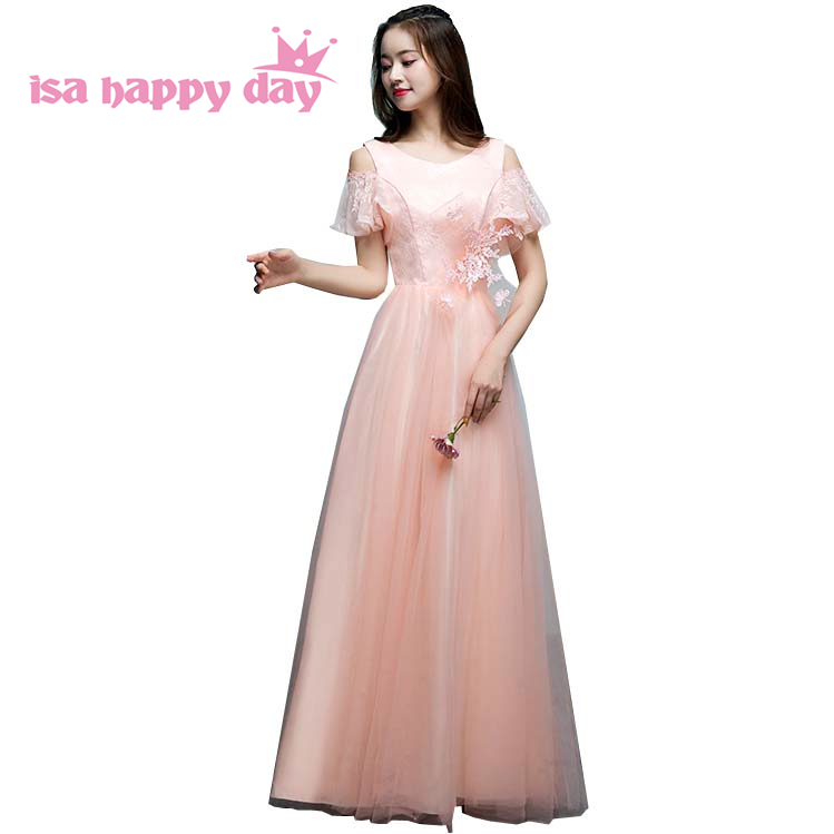 Light Pink Lace Evening Dresses Long Cap Sleeve Party Wear Prom Formal Evening Prom Gown Dress Women Party On Sale Abendkleider Top Watermelons Evening Dresses