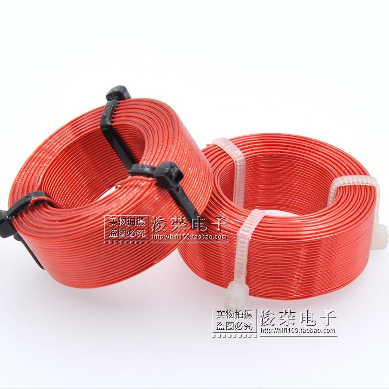 0,8 мм катушка индуктивности речи коробка делитель полые индуктивности высокой чистоты анаэробный Медь красная эмаль