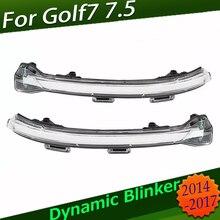 Für V W Golf 7 GTI7 MK7 R MK 7,5 TouranL Led seite licht Dynamische Drehen Blinker Signal Lampe Golf 7 kristall Drehen Signal Licht