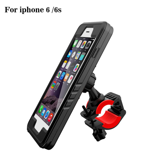 the best attitude b617c a8b93 US $30.58  Bicycle phone stand for iPhone 6s Waterproof Bike phone holder  Motorcycle Cradle for iPhone 6 bracket GPS moto support-in Mobile Phone ...