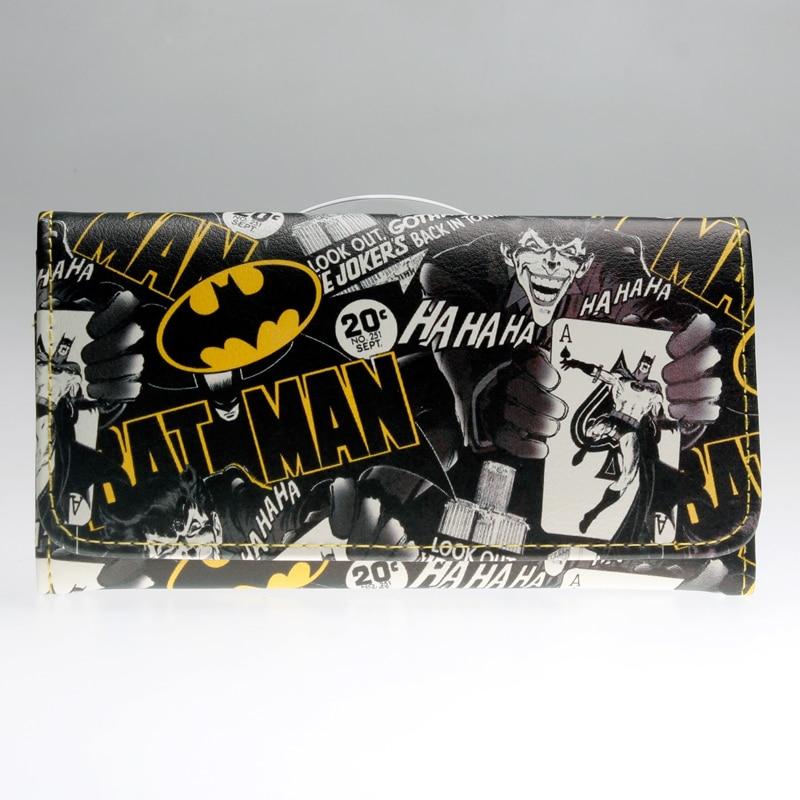 Batman Wallet Women Blue Long Wallet  Pika Purse DFT-1286