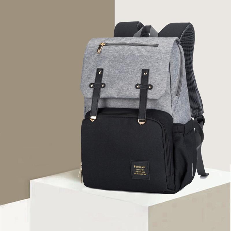 HTB1NuPaX8iE3KVjSZFMq6zQhVXaC 2019 Diaper Bag Mummy Daddy Backpack Baby Stroller Bag Waterproof Oxford Handbag Nursing Nappy Bag Kits USB Rechargeable Holder