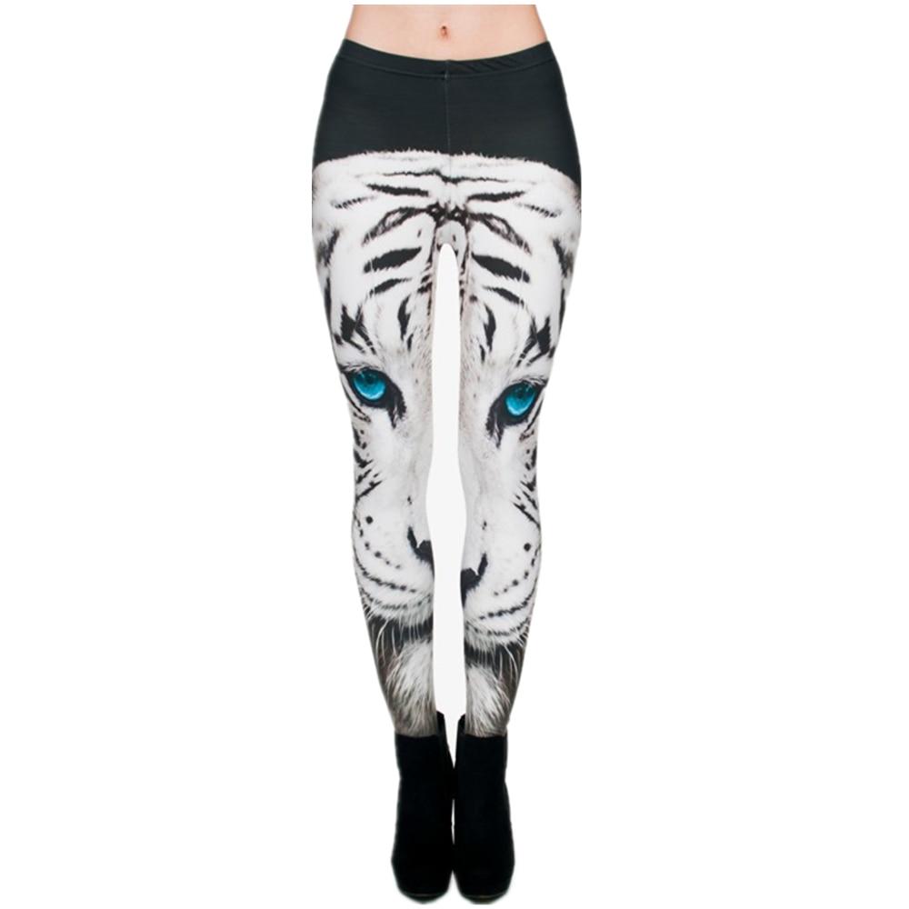 Fashion 3D Print White Tiger Winter Swarm Leggings Women Funny legging Pants Fitness Leggins Calzas Mujer Sexy Leggins jeggings