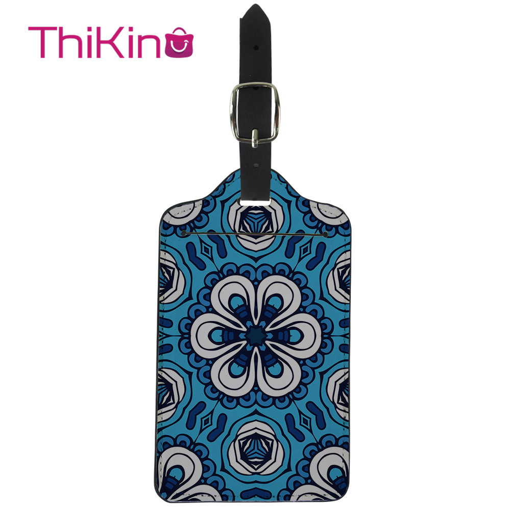 Thikin Harajuku Style Luggage Tag Women Travel Accessories PU Suitcase ID Address Holder Baggage Boarding Tag Portable Label