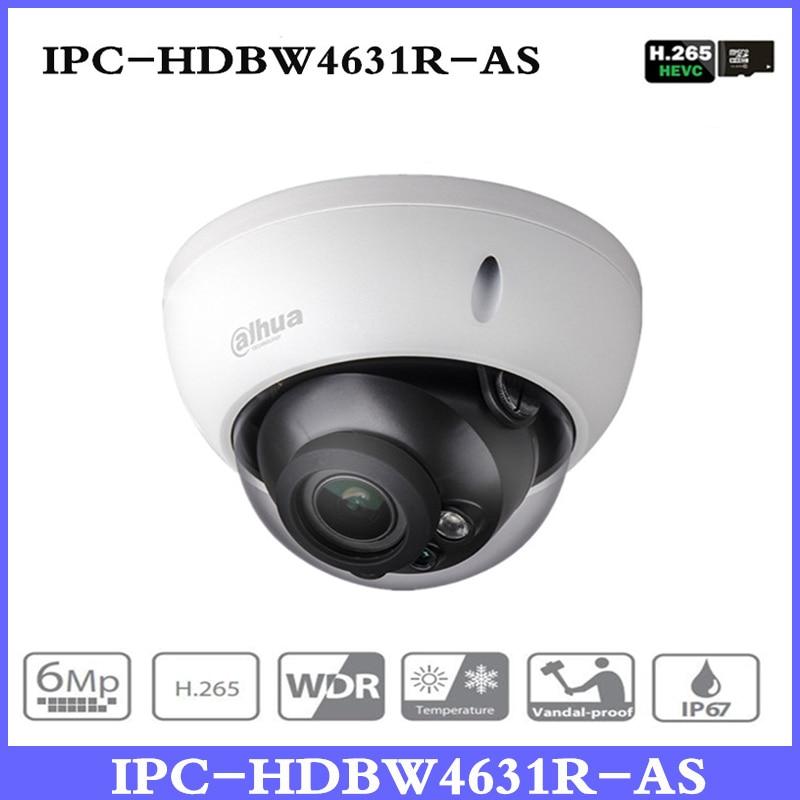 купить New DH 6MP Camera IPC-HDBW4631R-AS Upgrade from IPC-HDBW4431R-AS Support IK10 IP67 Audio &Alarm Port PoE Camera With SD Slot по цене 4299.77 рублей