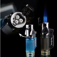 Powerful 3 Nozzles Torch Lighter Windproof Jet Butane Lighte