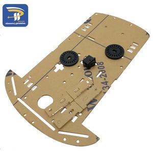 Image 5 - New Avoidance tracking Motor Smart Robot Car Chassis Kit Speed Encoder Battery Box 2WD Ultrasonic module For Arduino kit