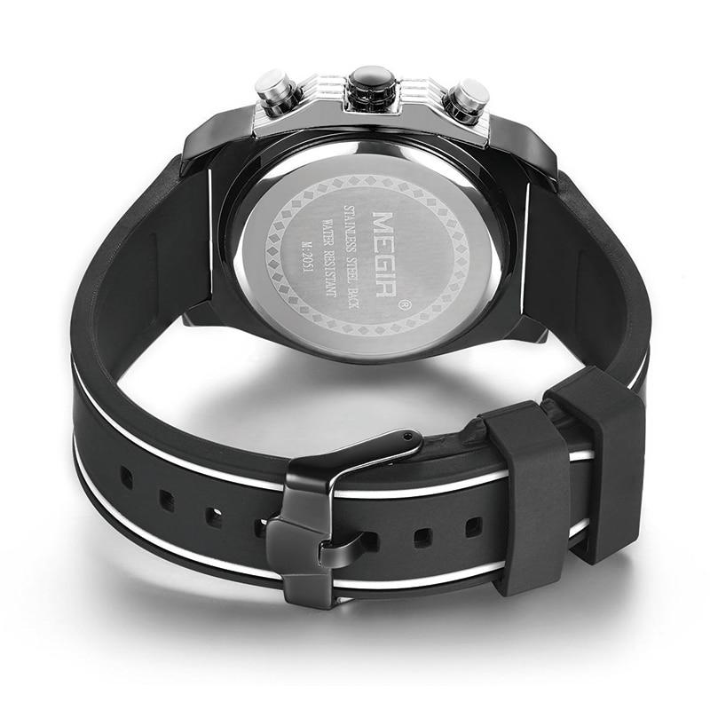Watch Mænd Style MEGIR Luksus Brand Sports Quartz Watch Silikone - Mænds ure - Foto 6