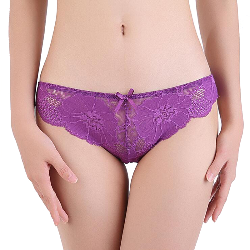 Hot Sale Women's Intimates Sexy Panties Lace Briefs Low Waist Female Underwear Big Size Underpants Indented Breathable Panties