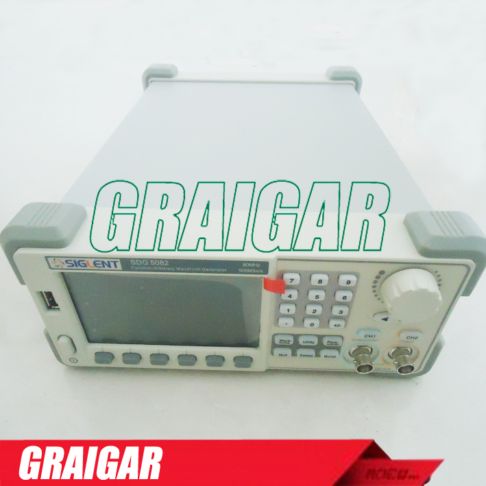 New Siglent Digital Oscilloscope SDG5082 Function/Arbitrary Waveform Generator 80MHz; 500MSa/s Real Sample Rate осциллограф siglent shs815 150 2mpts 1 sa s