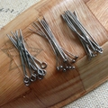 Free Shipping 30MM 300Pcs Gunmetal Black Plated Jewellery Eye / Ball / Flat Head Pins DIY Jewelry Findings & Accessories