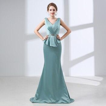 H&S BRIDAL Mermaid Lace Up Evening Dresses 2019 Long Evening Gowns casamento Formal Women Party Prom Gowns vestidos de festa