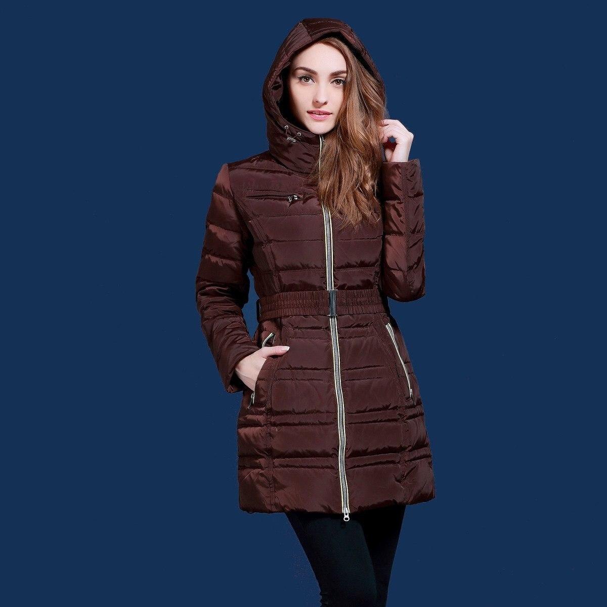 zimní bundy pro ženy Ruské a evropské značky Bílá kachna dolů Mínus 20 stupňů teplých kabátů plus velikost XS-2XL SID-Q501