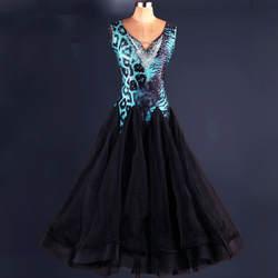 V-образным вырезом леопард Вальс платья 2018 Бальные платья abiti балло стандарт Donna бальных танцев конкуренции платья
