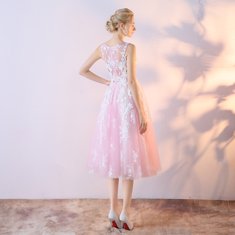 LAMYA Customized Tea length Burgundy Prom Dresses Elegant Puffy ...