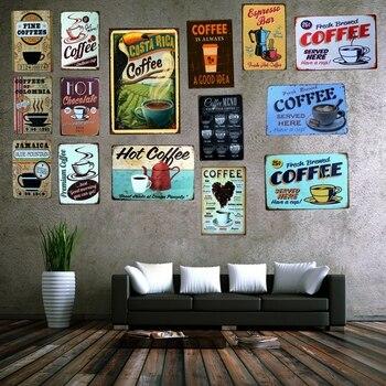 Señal de café de Costa Rica, latas de Metal Vintage, Placas Decorativas,...
