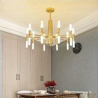 Post modern living room/bedroom Nordic Pendant Lights gold/Black Restaurant iron pendant lamp G4 LED Bulb 220V