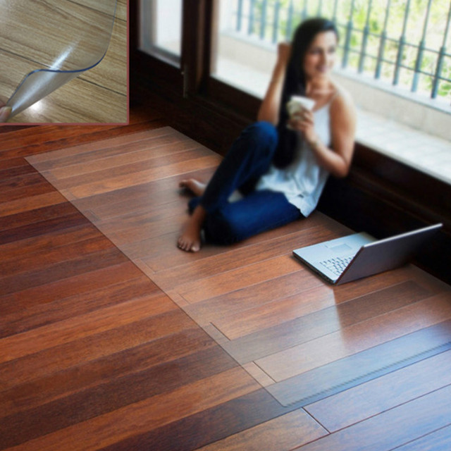 Indoor Chair Mat Wooden Floor Protection Carpet Office PVC Non Slip Area  Rug Transparent Waterproof