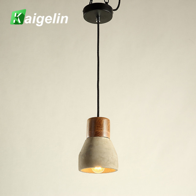 e27 rustique ciment led lampes suspendues lampe de plafond vintage clairage industriel r tro. Black Bedroom Furniture Sets. Home Design Ideas