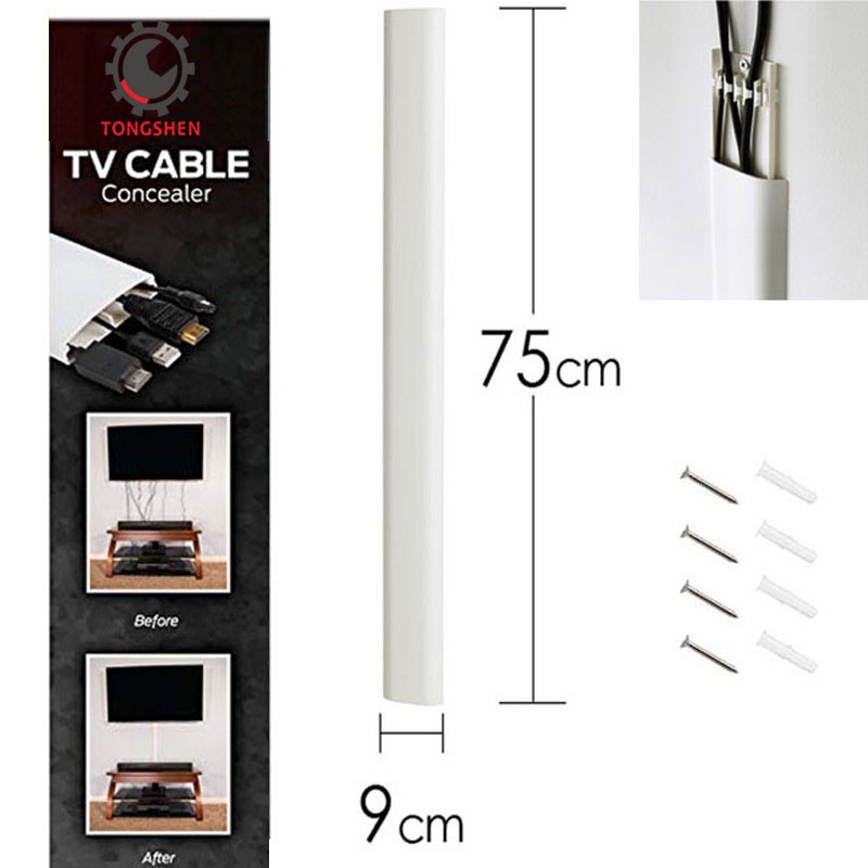 30Inch Flat Screen TV Cord Cover Wall Mount TV Cable Concealer Wire Cover Raceway to Hide Cables Organize Cables Wall Raceway