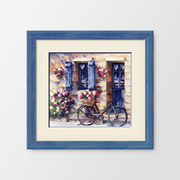 bicycle scenery DMC cross stitch kits DIY embroidery painting home wall decoration needlework cotton threads high quality XXFISH