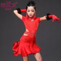 Children S Latin Dance Skirt Costume New Children S Latin Dance Clothing Tassel Dress Performance Clothing