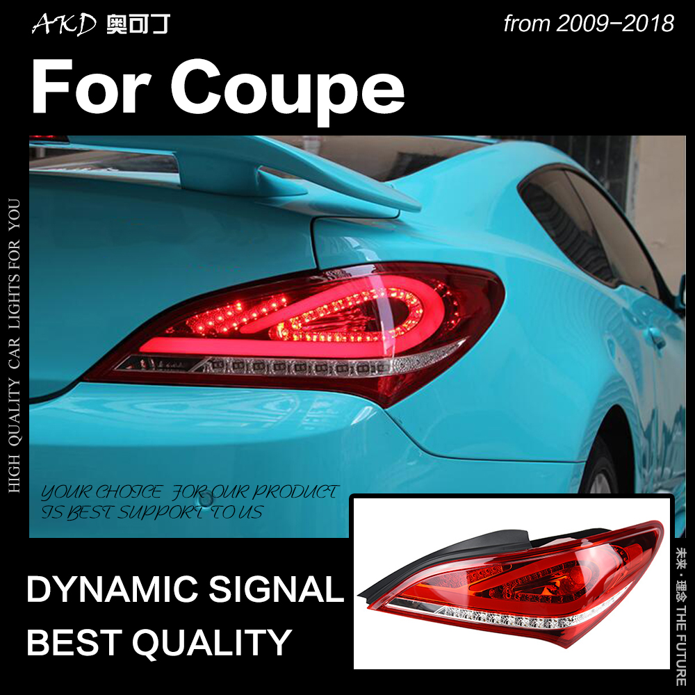 AKD Car Styling Tail Lamp for Hyundai Rohens Coupe LED Tail Light 2009 2018 Genesis Coupe