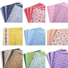 7Pcs 25x25cm Floral Patchwork Cotton Fabric Plain Cloth for DIY Sewing Quilting Cloth Accessories New(China)