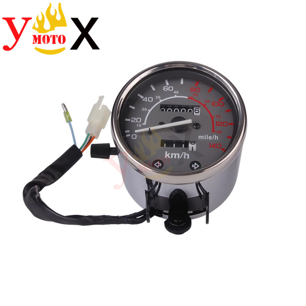 Motorcycle KM/H Speedometer Gauge Tachometer Instrument For Honda Rebel CMX250 CA250 96-2011 CMX250C 03-11 Steed VT VLX 400 600 old school motorcycle gauges