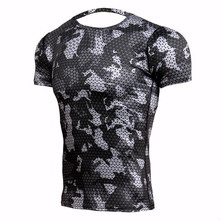 New Fitness T Shirts Men Compression Shirts Bodybuilding Camouflage 3d T shirt Men Crossfit GYMS T