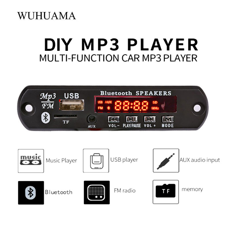 1Pc wireless bluetooth mp3 decoder board audio module usb tf radioH9